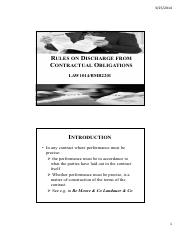 Lecture 8- Rules on Discharge from Contractual Obligations.pdf