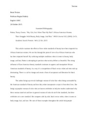 ENG 1100 C FINAL COPY ANNOTATED BIBLIOGRAPHY
