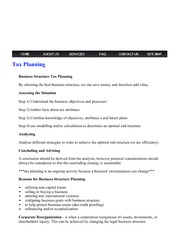 MVSC Accounting - Tax Planning