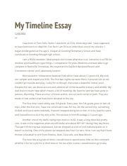 timeline paragraphs