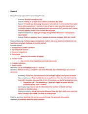 Psychology Research Methods Notes - Chapter 1 Test Study Guide