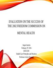 Evaluation_on_the_Success_of_the_2002_Freedom mod 6.ppt