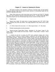 Chapter 13 Answers to Review Questions