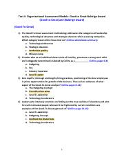 Test 4- Organizational Assessment Models- Good to Great-Baldrige Award