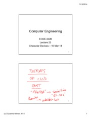 Lecture 23 Character Devices 10 Mar 14 annotated