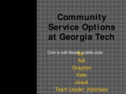 Community Service Options at Georgia Tech