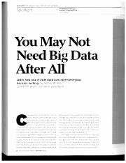 You May Not Need Big Data After All