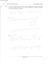 Midterm Exam 2 Version 1 Solution