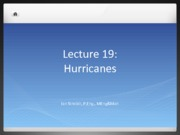 Lecture 19 - Hurricanes