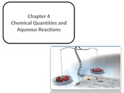 CHM 2040 Chapter 4 Chemical Quantities and Aqueous Reactions