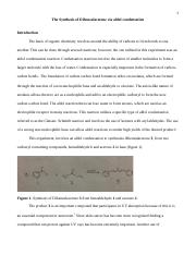 The Synthesis of Dibenzalacetone .docx