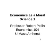 Lecture 4- Economics as a Moral Science 1