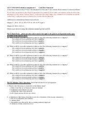 ACCT3351-Self-Evaluation Assignment 4-Cash Flow Statement