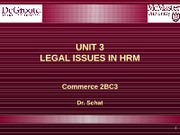 2BC3 2013 Lecture 3 Legal Issues