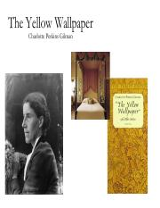 Lecture 3 Gilmanpdf The Yellow Wallpaper Charlotte