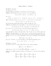 Exam 2, Fall 2010—Solutions