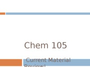 Chem 105 Final Review