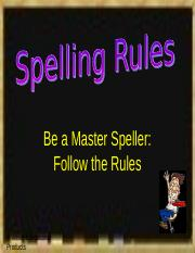 Spelling Rules.ppt