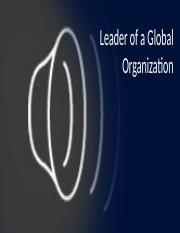 ethics Leader of a Global Organization