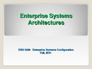 EGN_5620_Enterprise Sys Architecture Fall 2011