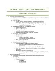Targetting and Gardening Notes (PBIO)