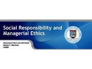 Social Responsibility and Managerial Ethics  Chapter 2