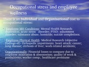 Occupational Stress-Wellness