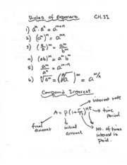 rules of exponenets