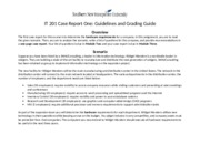 IT 201 Case Report One_Guidelines and Grading Guide
