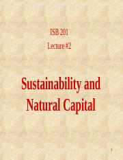 2 - Sustainability and Natural Capital (posted)