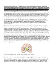 Basal Ganglia Notes and Practise Essay