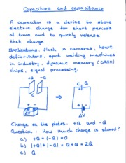 Capacitors Notes