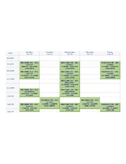 class schedual