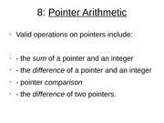Pointer Arithmetic