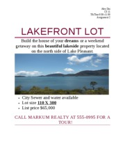 Lakefront Lot