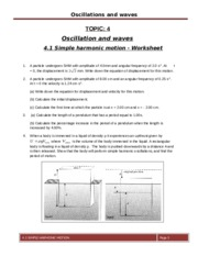 simple harmonic motion worksheet