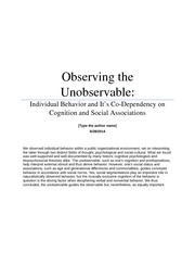 Final Paper - Observing the Unobservable
