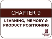 CH09 - Learning & Memory