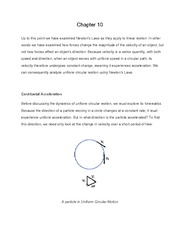 Centripetal Acceleration  General Physics Chapter 10