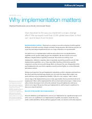 mckinsey 2014 Why implementation matters.pdf