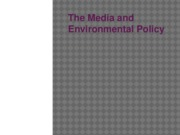 The Media and Environmental Policy