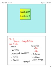 Math 227 Lecture 2