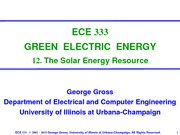 Lecture 12 - The Solar Energy Resource
