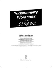 Trigonometry Workbook for Dummies - M. Sterling (Wiley, 2005)