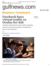 Facebook buys virtual reality co Oculus for $2b _ GulfNews