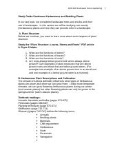 Study Guide for Herbaceous Plants(1)