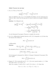 Practice Final Exam Solution on Real Analysis Fall 2014