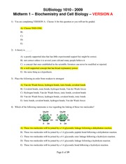 SUBiology_1010_-_Midterm_1_-_VERSION_A_-_with_answers