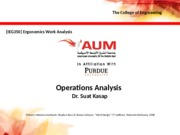 Lecture 7 - Operations Analysis (1)