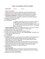 Sociology of Religion Exam 2 studyguide